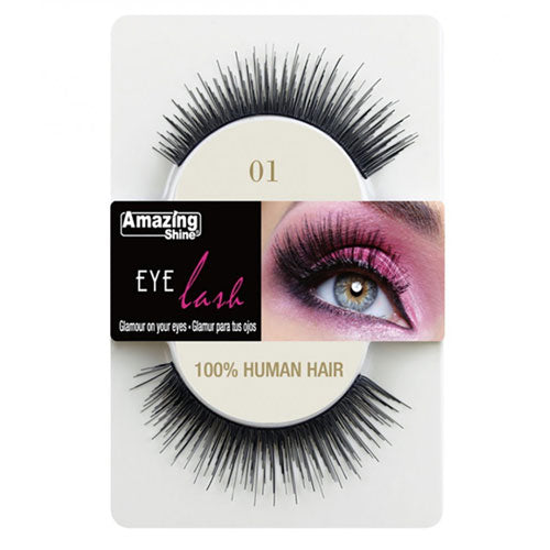 Amazing Shine Human Hair Eyelashes 01