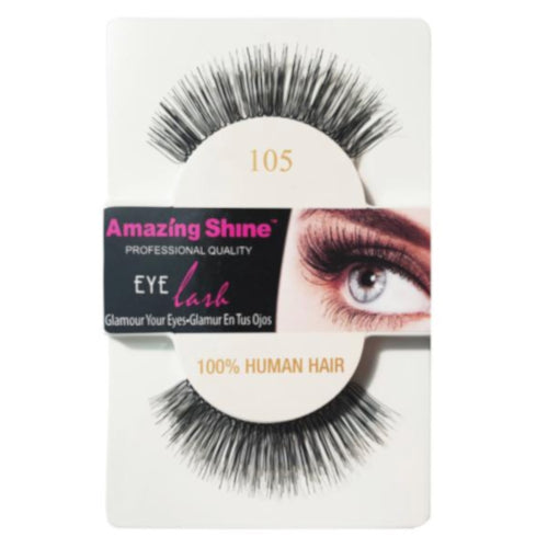 Amazing Shine Human Hair False Eyelashes 105