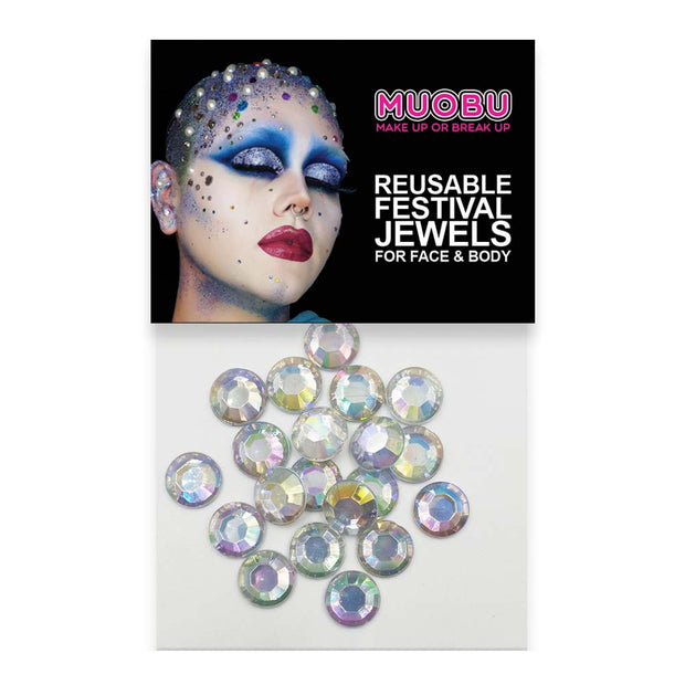 Pearl Diamantes - Iridescent Face & Body Gems 10mm