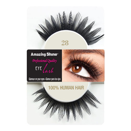 Amazing Shine Human Hair Eyelashes 28