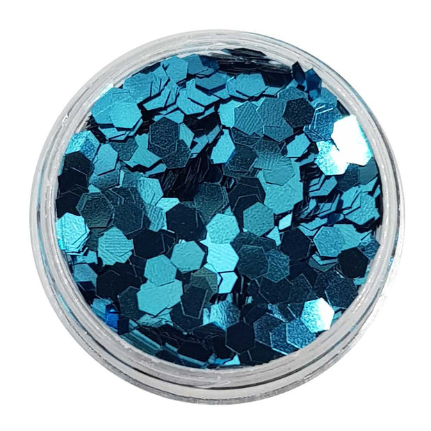 True Blue - Cobalt Metallic Medium Hexagon Glitter
