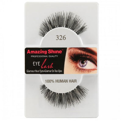 Amazing Shine Human Hair Eyelashes 326
