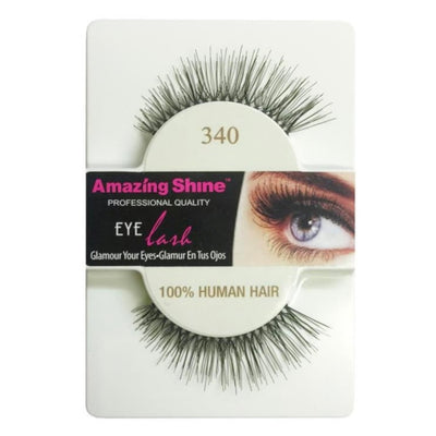Amazing Shine Human Hair False Eyelashes 340