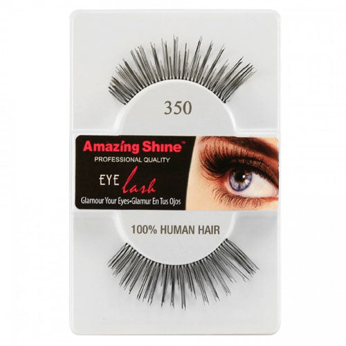 Amazing Shine Human Hair Eyelashes 350