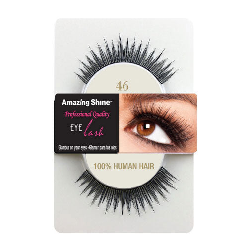 Amazing Shine Human Hair False Eyelashes 46