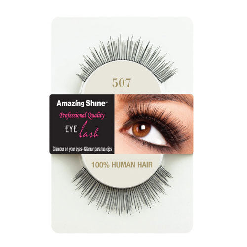 Amazing Shine Human Hair False Eyelashes 507