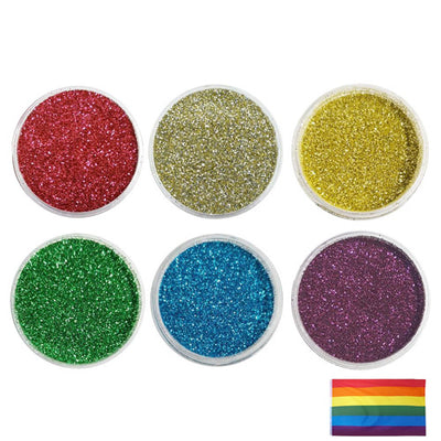 Gay Pride Rainbow - Biodegradable Fine Glitter Set (Save £5.00)