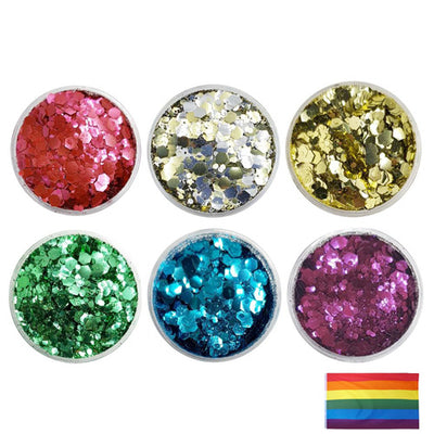 Gay Pride Rainbow - Biodegradable Festival Mixes Glitter Set (Save £6.00)
