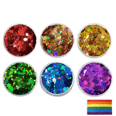 Copy of Gay Pride Rainbow - Festival Mixes Glitter Set (Save £3.00)