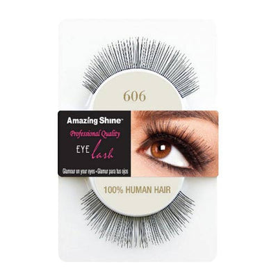 Amazing Shine Human Hair False Eyelashes 606