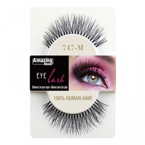 Amazing Shine Human Hair Eyelashes 747-M