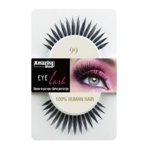 Amazing Shine Human Hair Eyelashes 99