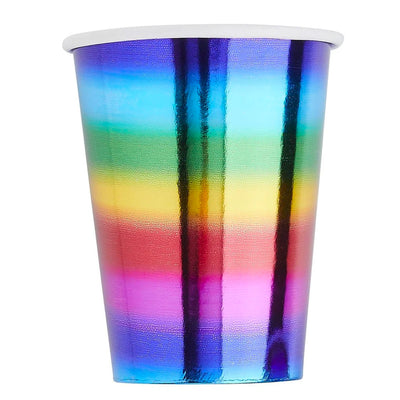 Gay Pride Rainbow Foil Paper Cups (10 Pack)