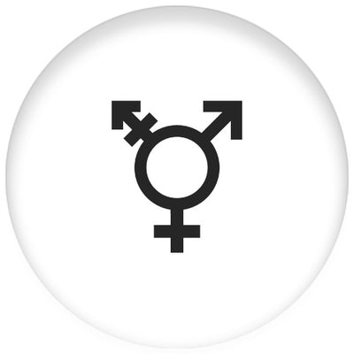 Transgender Symbol Small Pin Badge