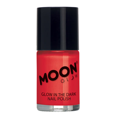 "Moon Glow ""Glow In The Dark"" Nail Polish - Red"