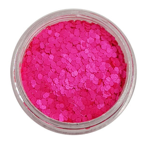 Shocking Pink - Pink UV Mini Hexagon Glitter