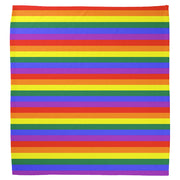Gay Pride Rainbow Flag Cotton Bandana (Thin Stripes)