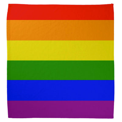 Gay Pride Rainbow Flag Cotton Bandana (Thick Stripes)
