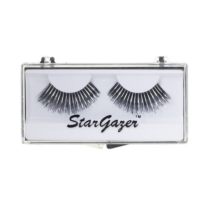 Stargazer Festival False Lashes 04 - Black & Silver Foil