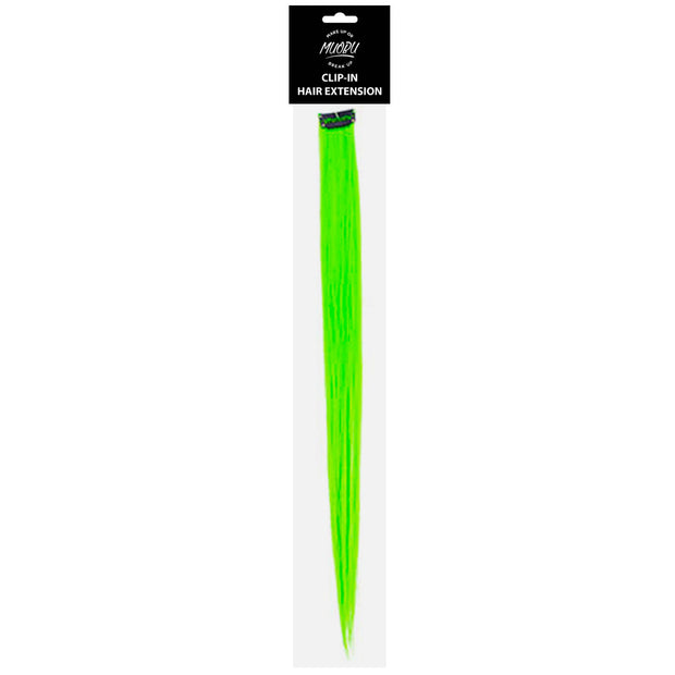 MUOBU Clip-In Hair Extension Strip - UV Neon Green