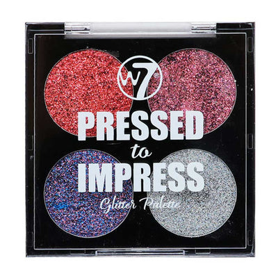 W7 Pressed To Impress Glitter Palette - All The Rage