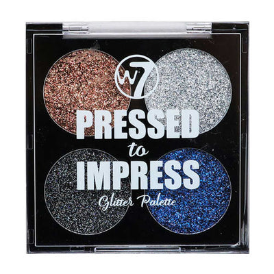 W7 Pressed To Impress Glitter Palette - Style Icon