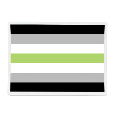 Agender Pride Flag Rectangle Vinyl Waterproof Sticker
