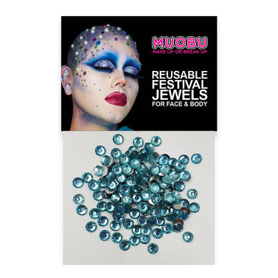 Aqua Diamantes - Clear Face & Body Gems 4mm