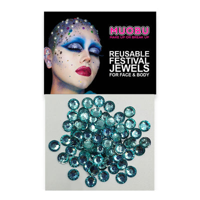 Aqua Diamantes - Clear Face & Body Gems 6mm