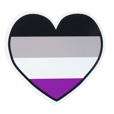 Asexual Heart Vinyl Sticker