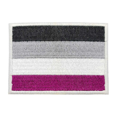 Asexual Flag Rectangular Embroidered Iron-On Festival Patch