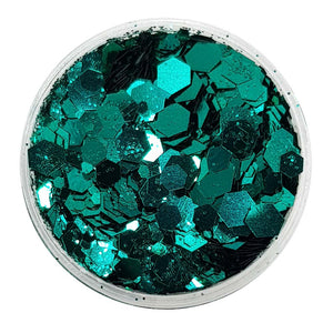 Emerald Green Festival Glitter (Metallic Chunky Glitter Mix) - Babes In The Wood