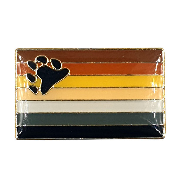 Bear Flag Gold Enamel Pin Badge