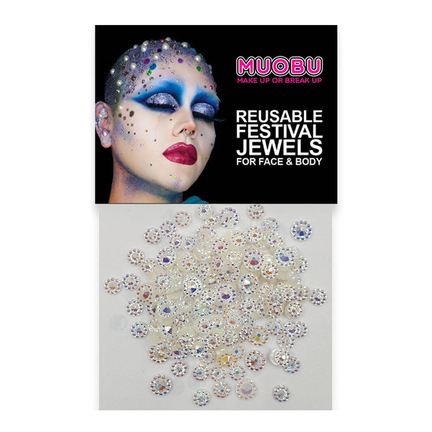 Bejewelled Diamantes - Clear Face & Body Gems (Mixed Size Pack)