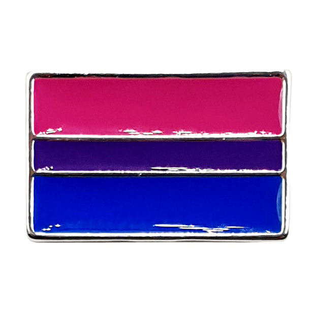 Bisexual Flag Silver Plated Pin Badge