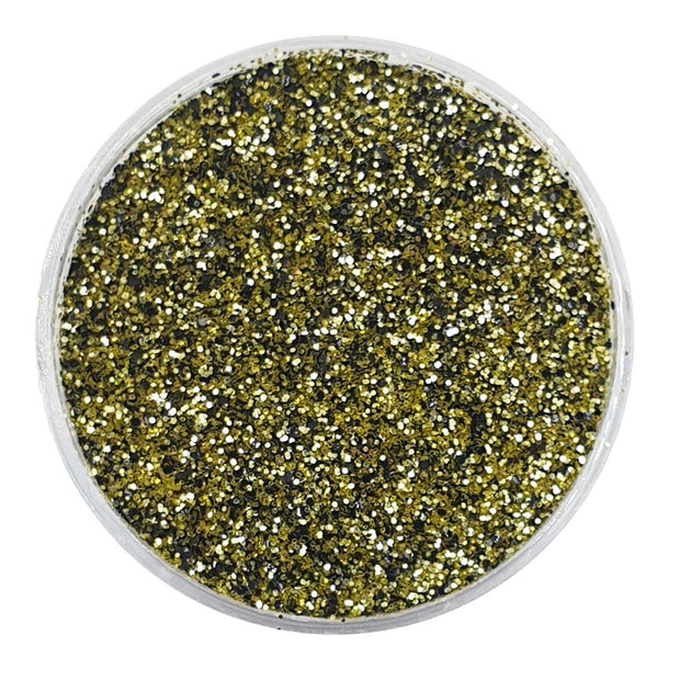 Biodegradable Black & Gold Glitter (Fine Metallic Glitter) - BioFame