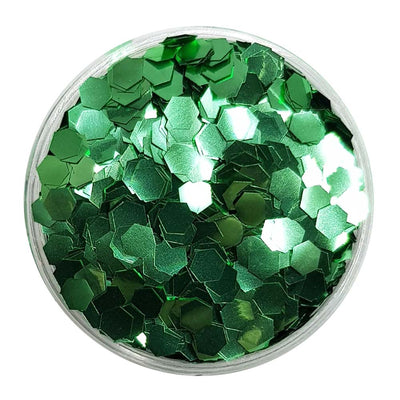 Biodegradable Green Glitter (Chunky Hexagon Metallic Glitter) - BioLeaves