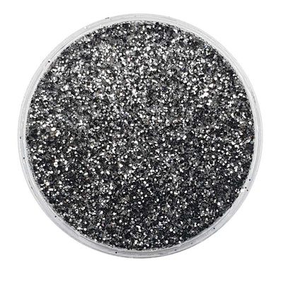 Biodegradable Black & Silver Glitter (Fine Metallic Glitter) - BioStorms