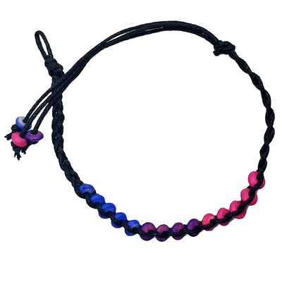 Bisexual Flag Ceramic Bead Friendship Bracelet
