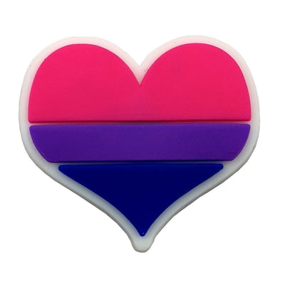 Bisexual Flag Silicone Heart Pin Badge