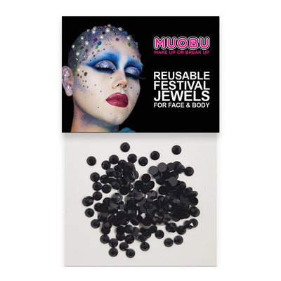 Black Diamantes - Face & Body Gems 4mm