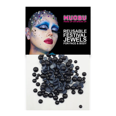 Black Pearls - Face & Body Pearls (Mixed Size Pack)