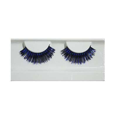 Festival False Lashes - Black & Blue Foil