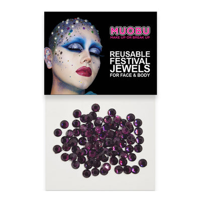 Burgundy Diamantes - Clear Face & Body Gems 4mm