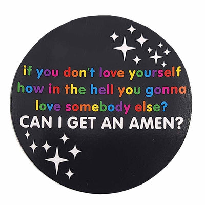 Can I Get An Amen? Vinyl Waterproof Sticker