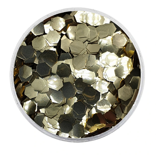 MUOBU Biodegradable Champagne Glitter - Chunky Hexagon Metallic Glitter