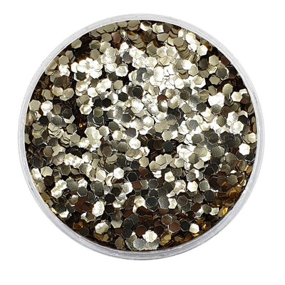 MUOBU Biodegradable Champagne Glitter - Mini Hexagon Metallic Glitter