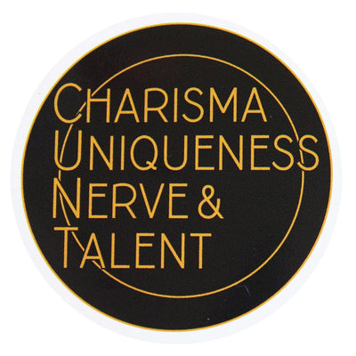 Charisma Uniqueness Nerve & Talent Vinyl Sticker