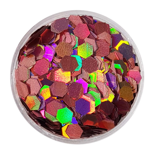 Pink Large Flake Glitter (Holographic Glitter Hexagons) - Cherry Blossom