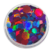 Purple, Blue & Red Festival Glitter (Holographic Chunky Glitter Mix) - Circus